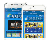 Rider Rewards mobile app on iPhone and Android devices.